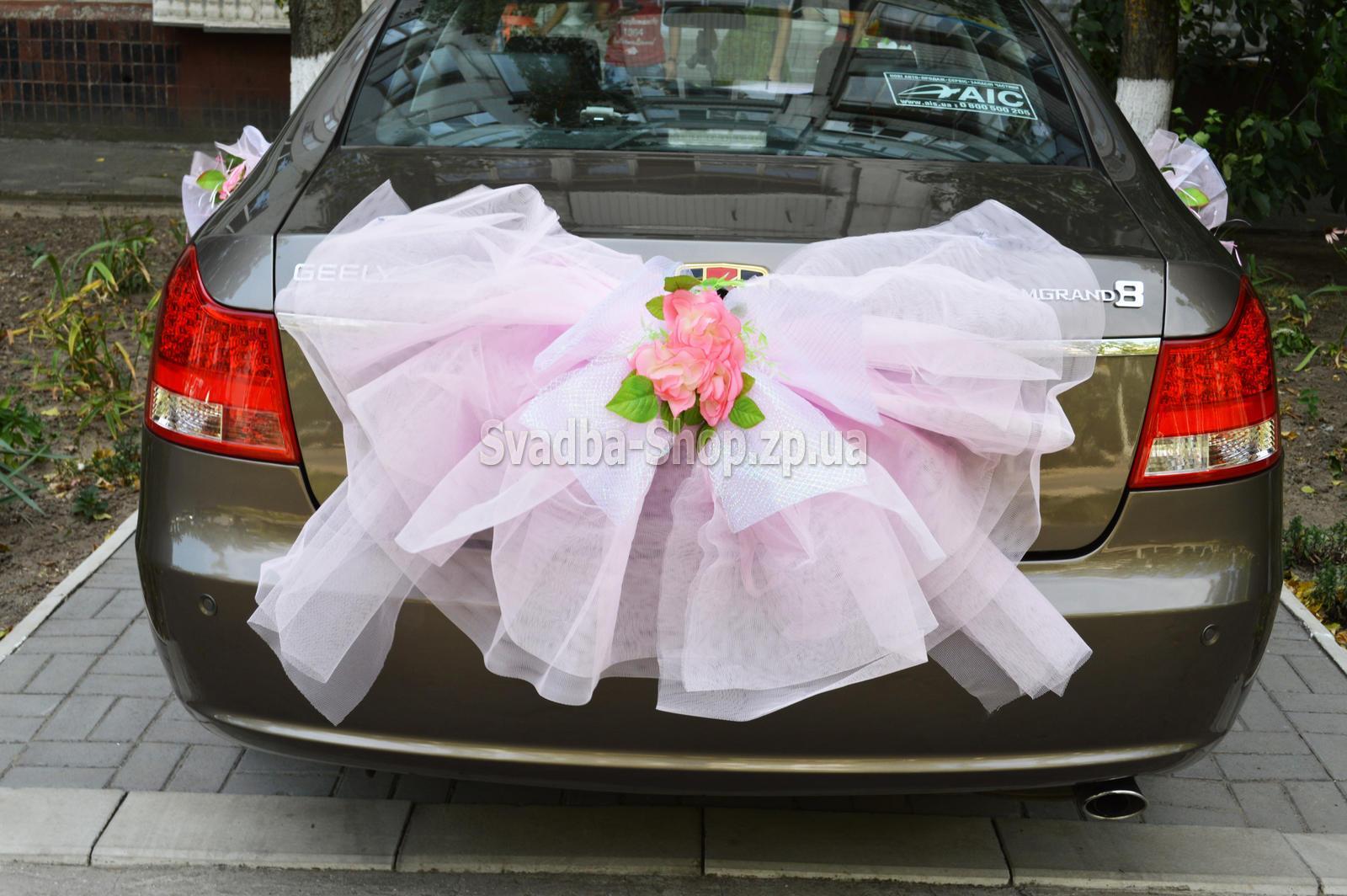 Бант на свадебную машину своими руками на багажник