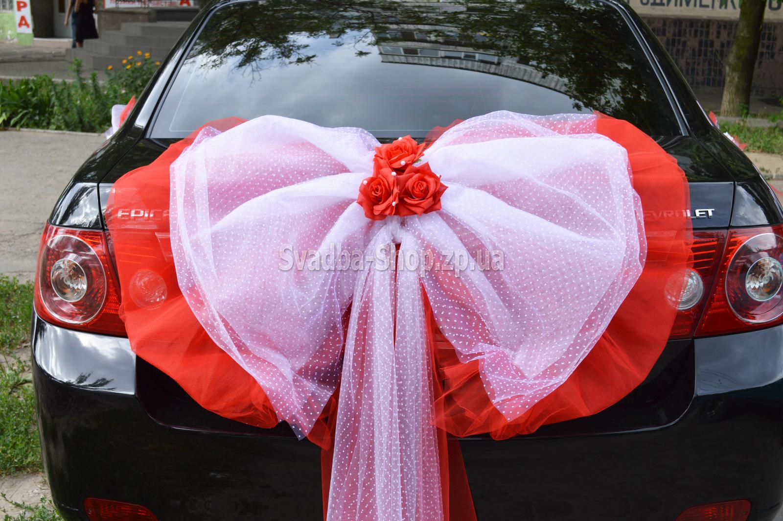 Банты для свадебной машины своими руками 33